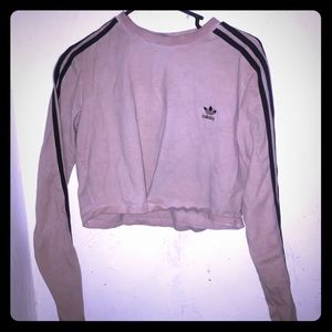 Adidas pink and black crop